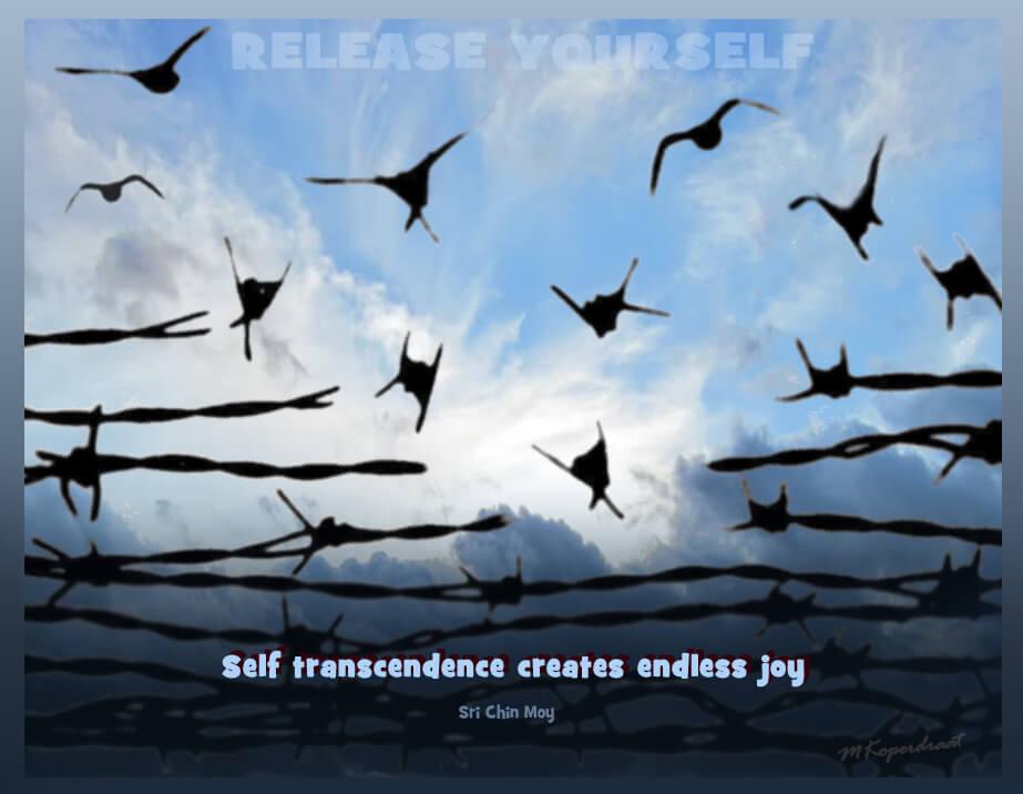 Zelfoverstijging creaart eindeloze vreugde