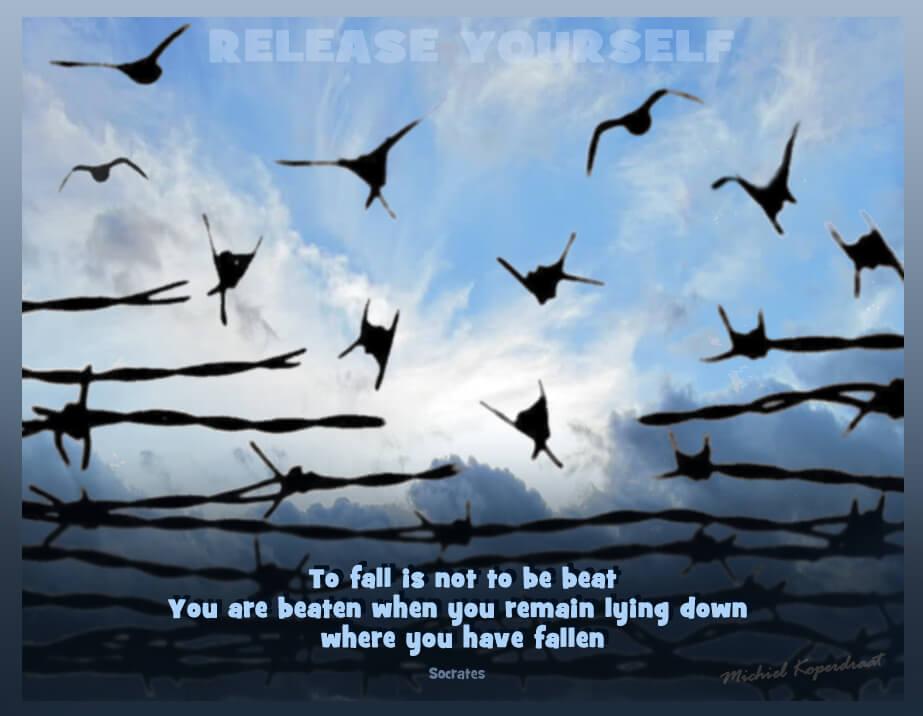 Vallen is geen nederlaag. Je bent alleen verslagen als je blijft liggen.